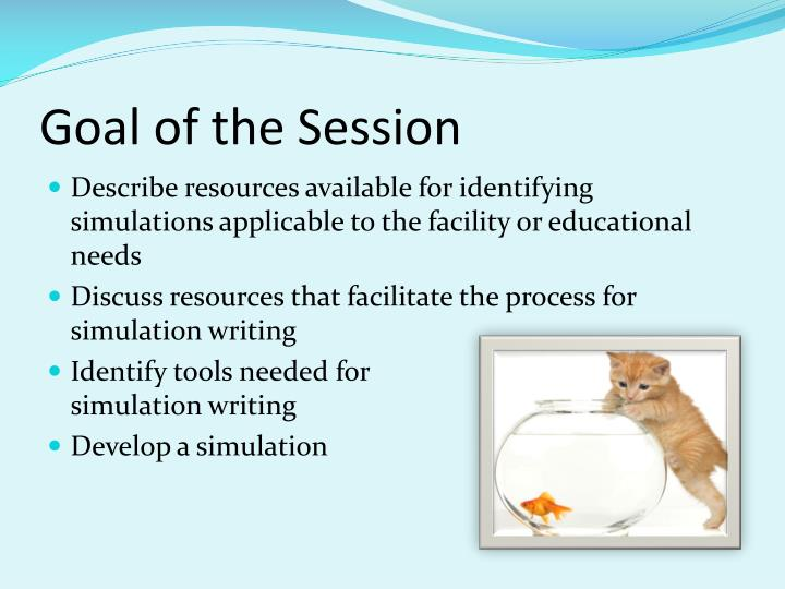 Goal of the session