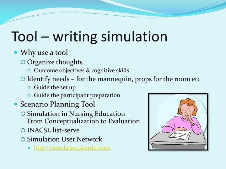 Tool – writing simulation