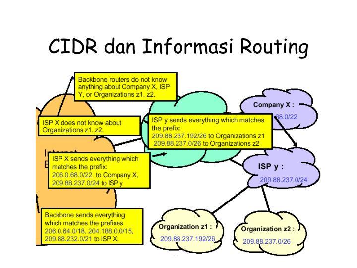 CIDR dan Informasi Routing