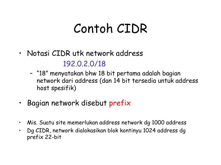 Contoh CIDR