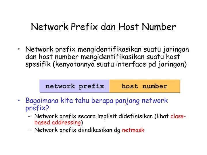 Network Prefix dan Host Number