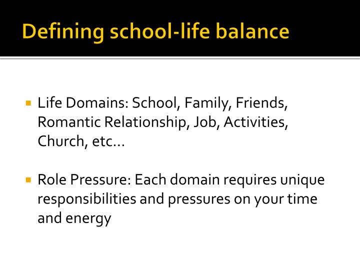 "the problems balancing school job and School-work-life balance according to stimpson and filer (2011), ""work-life balance is a topic discussed more frequently in the literature concerning faculty than graduate students in higher education"" (p 70."