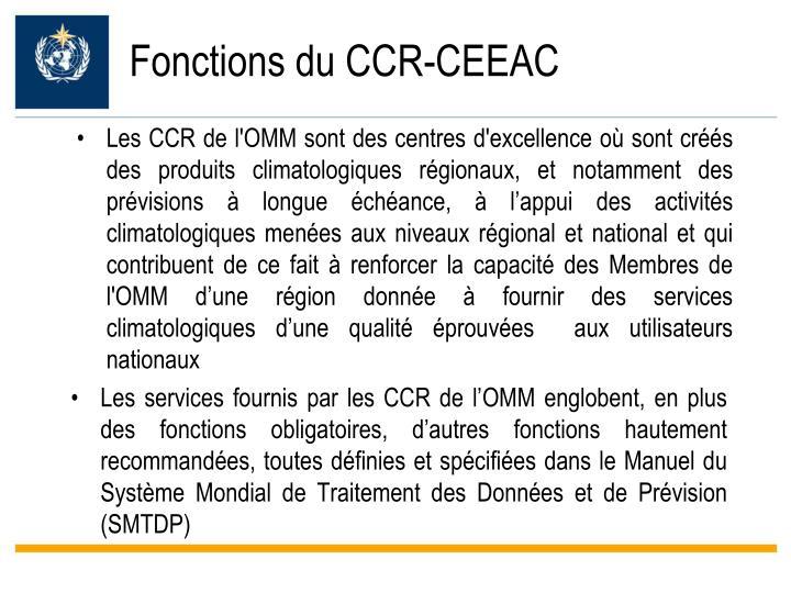 Fonctions du CCR-CEEAC