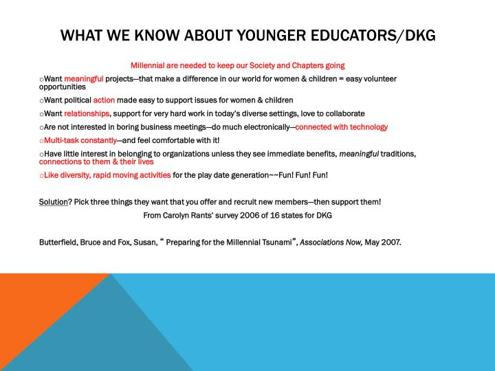What We Know about Younger