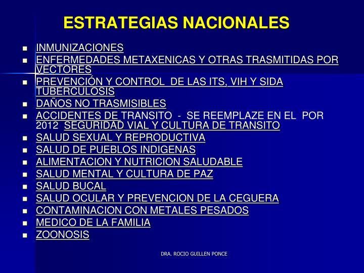 ESTRATEGIAS NACIONALES