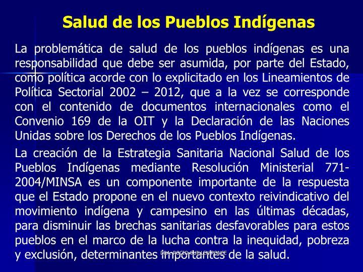 Salud de los Pueblos Indígenas