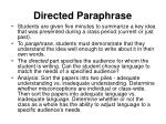 directed paraphrase