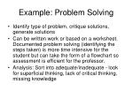 example problem solving