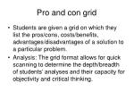 pro and con grid