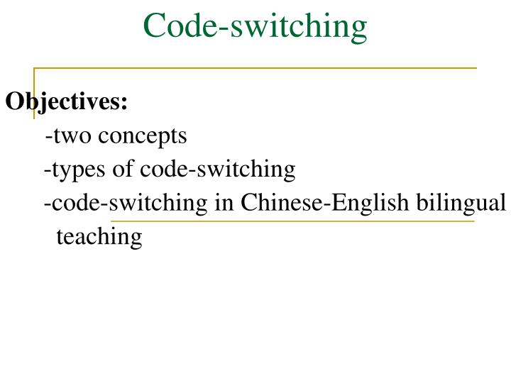 code switching n.