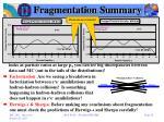 fragmentation summary