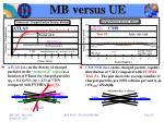 mb versus ue2