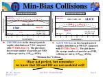 min bias collisions