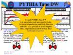 pythia tune dw1