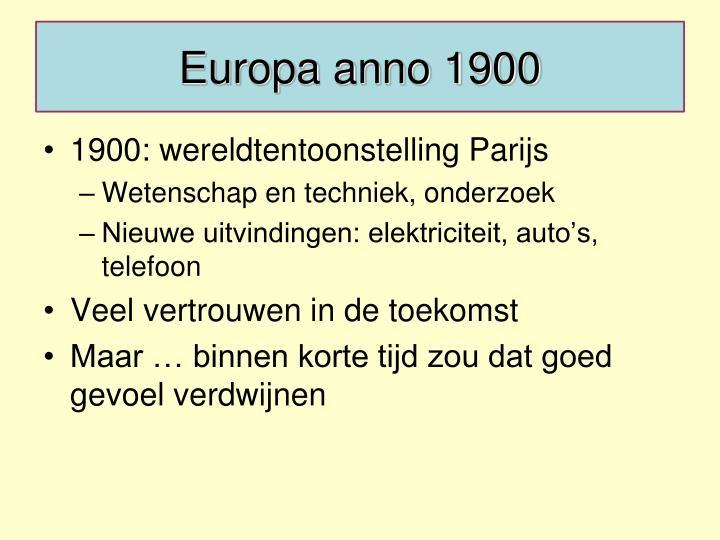 Europa anno 1900