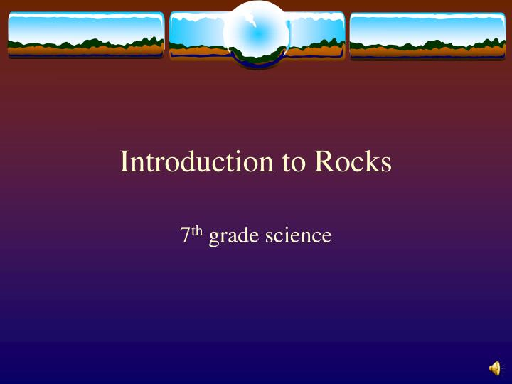 introduction to rocks n.