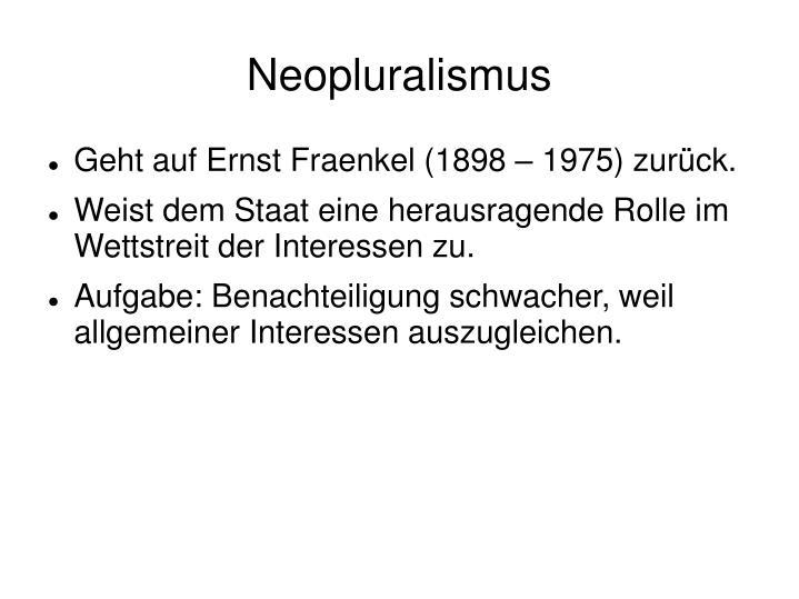 Neopluralismus