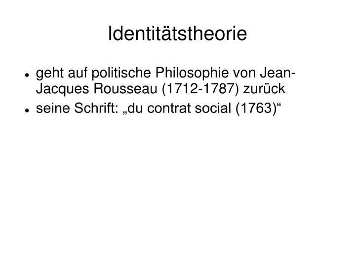 Identitätstheorie