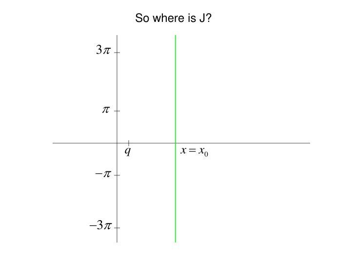 So where is J?