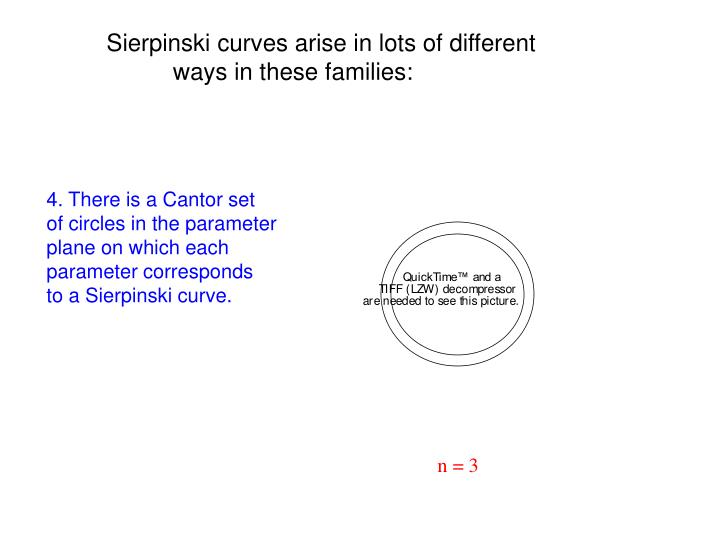 Sierpinski curves arise in lots of different