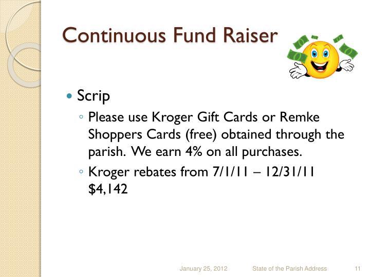Continuous Fund Raiser