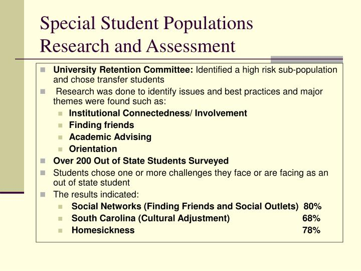 Special Student Populations