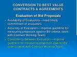 conversion to best value contracts agreements3