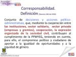 corresponsabilidad definici n decreto 166 de 2010