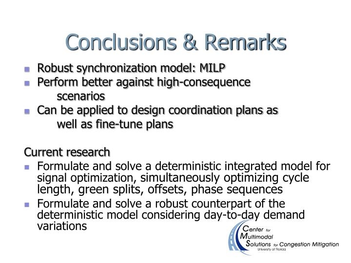 Conclusions & Remarks