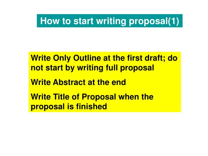 how to start writing an abstract