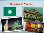 welcome to macao