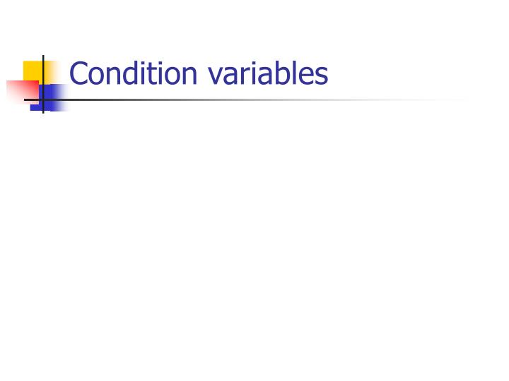 condition variables n.