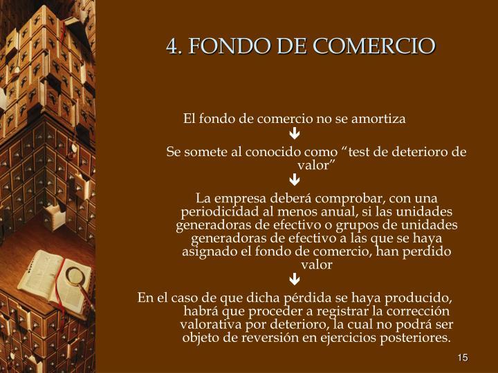 4. FONDO DE COMERCIO