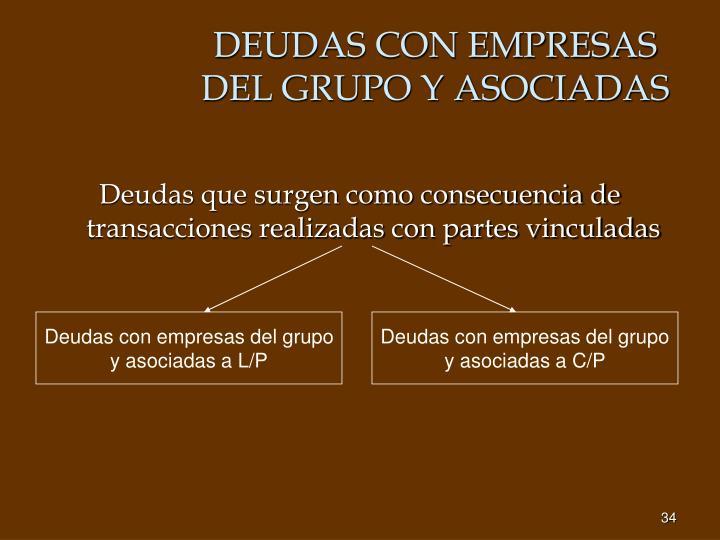 DEUDAS CON EMPRESAS DEL GRUPO Y ASOCIADAS