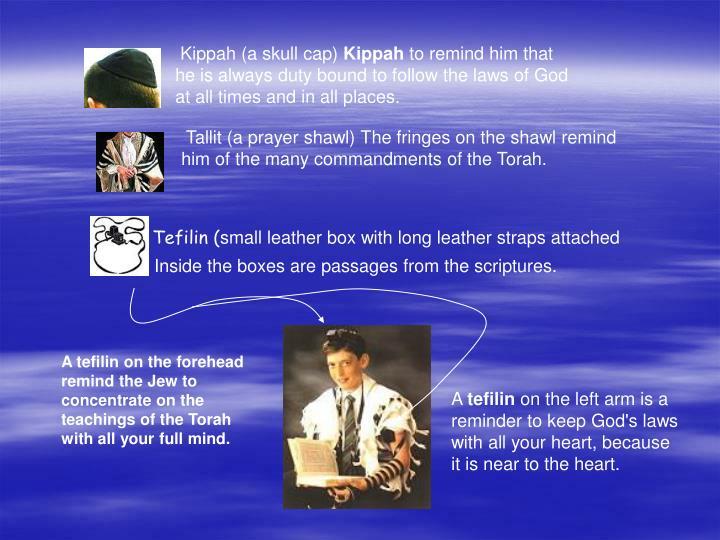 Kippah (a skull cap)