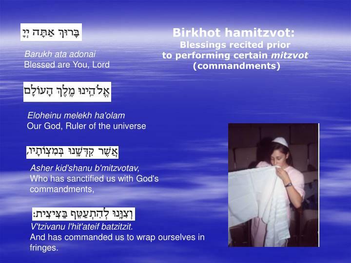 Birkhot hamitzvot:
