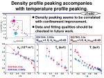 density profile peaking accompanies with temperature profile peaking