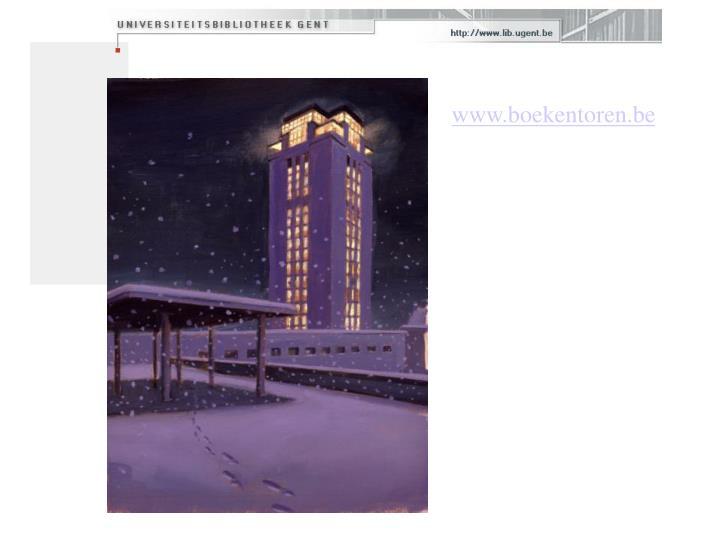 www.boekentoren.be