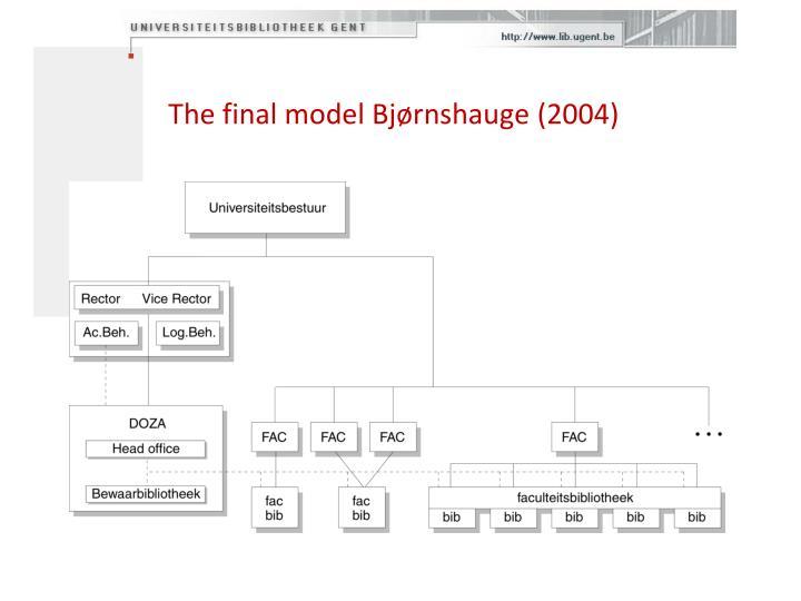 The final model Bj