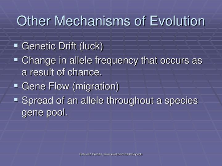 Other Mechanisms of Evolution