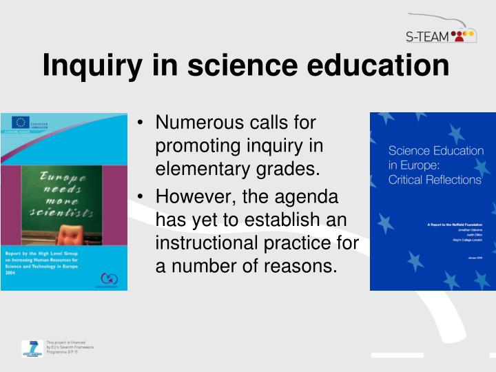 Inquiry in science education