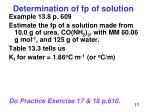 determination of fp of solution