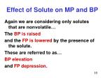 effect of solute on mp and bp