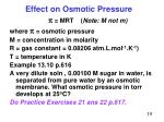 effect on osmotic pressure