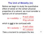 the unit of molality m