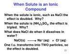 when solute is an ionic compound