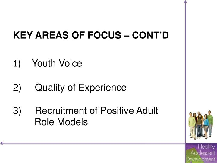 KEY AREAS OF FOCUS – CONT'D