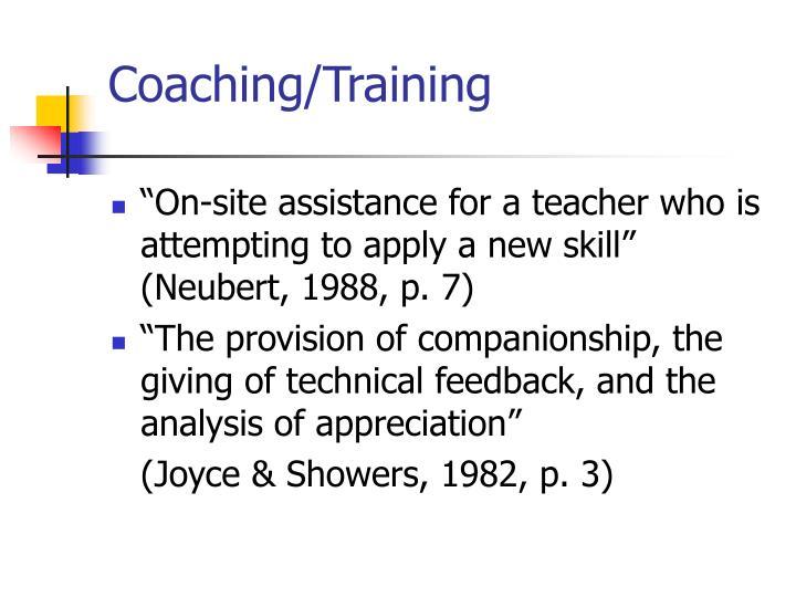 Coaching/Training