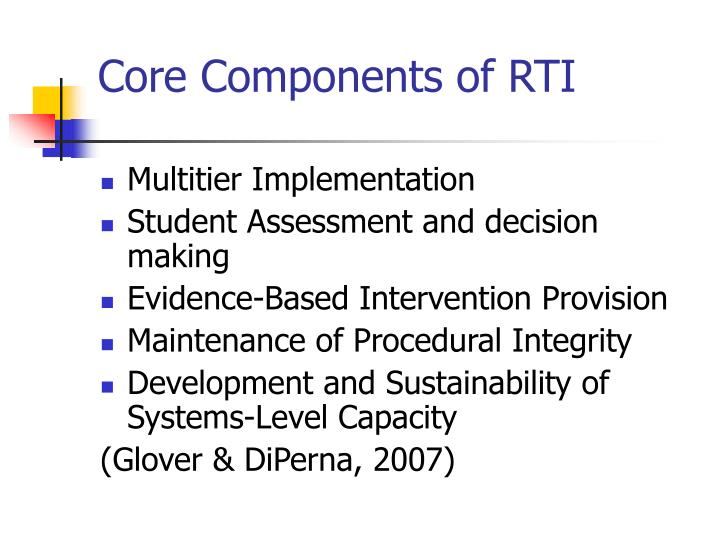Core Components of RTI