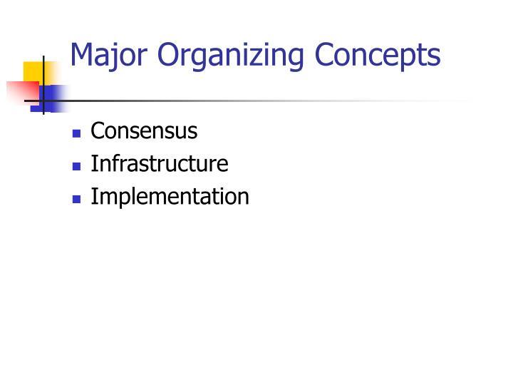 Major Organizing Concepts